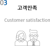 03 고객만족 , Customer satisfaction